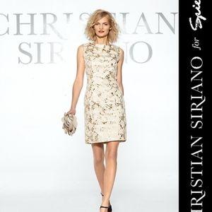CHRISTIAN SIRIANO Brocade Print Cocktail Dress 12